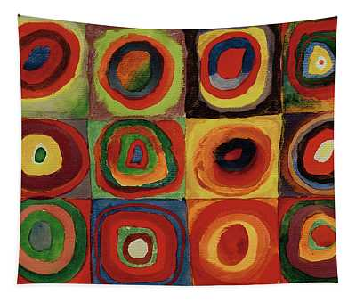 Squares With Concentric Circles 1913  Tapestry