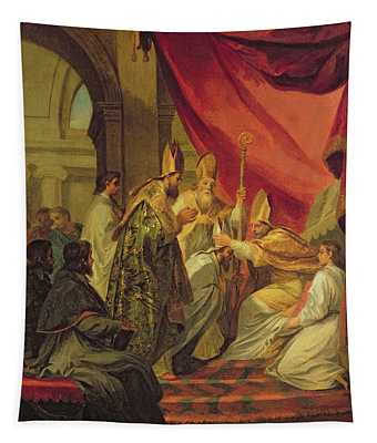 St Augustine Ordained As The Bishop Of Hippo Tapestry