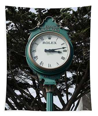 St Francis Yacht Club Clock Tapestry