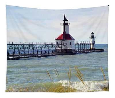 St. Joe Michigan Lighthouse Tapestry