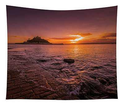 St Michael's Mount - January Sunset Tapestry