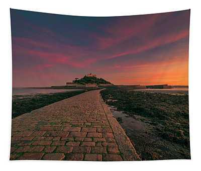 St Michael's Mount Sunset Tapestry