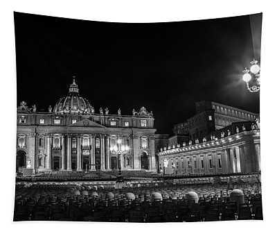 Vatican At Night  Tapestry