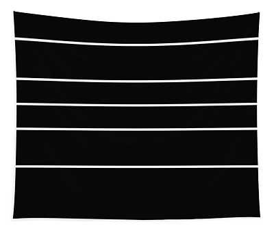 Stacked - Black And White Tapestry