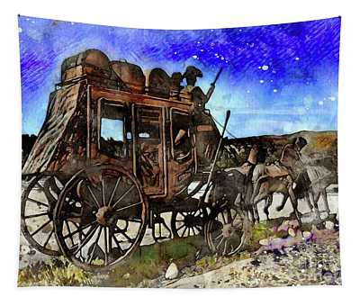 Stagecoach Tapestry