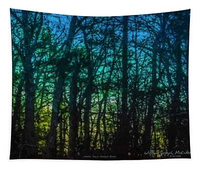 Stained Glass Dawn Tapestry
