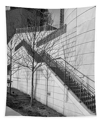 Stairs Up The Side Tapestry