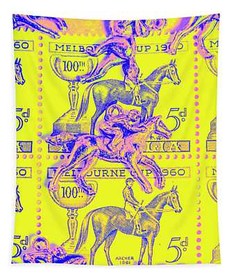Stamps And Stallions Tapestry