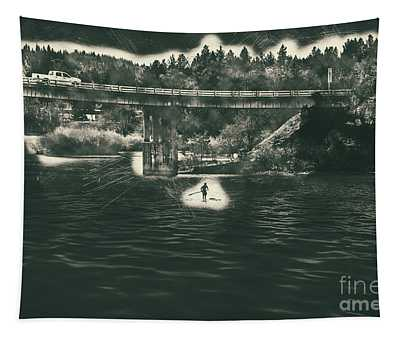 Tapestry featuring the photograph Stand Up Paddleboard Spokane River by Matthew Nelson