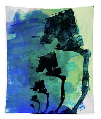 Star Warrior At-st Watercolor Tapestry