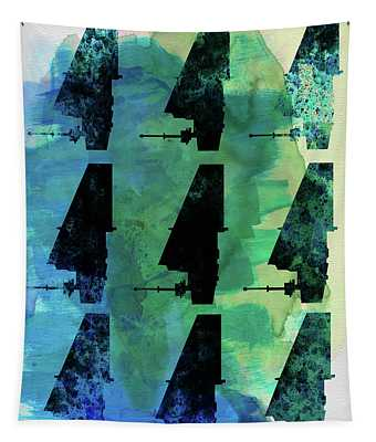Star Warrior Collage Tapestry