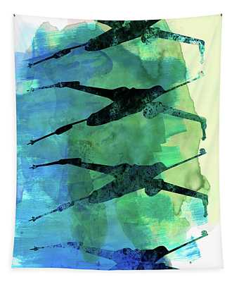 Star Warrior X-wing Watercolor 1 Tapestry