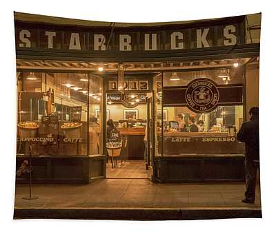 Starbucks At Pike Place Tapestry
