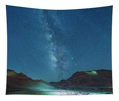 Starry Night At Ramon Crater 2 Tapestry