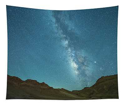 Starry Night At Ramon Crater 5 Tapestry