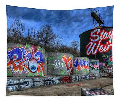 Stay Weird Asheville Tapestry