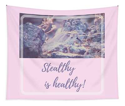 Tapestry featuring the photograph Stealthy Is Healthy by Judy Kennedy