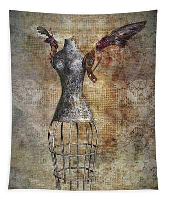 Steampunk Angel  Tapestry