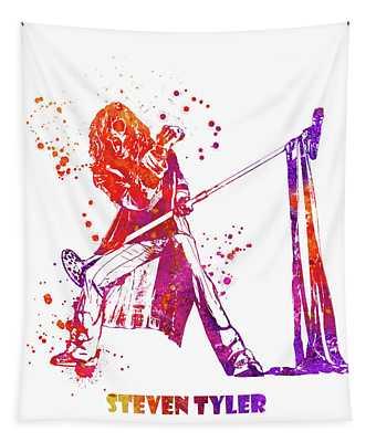 Steven Tyler Microphone Aerosmith Watercolor 02 Tapestry