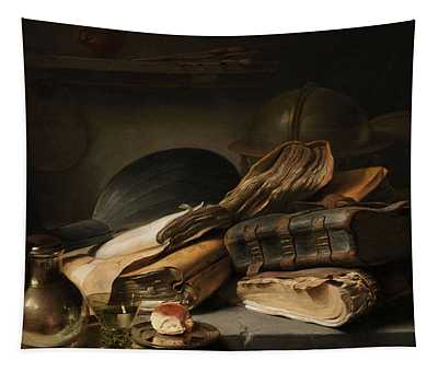 Still Life With Books, 1628 Tapestry