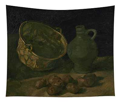Still Life With Brass Cauldron And Jug Tapestry