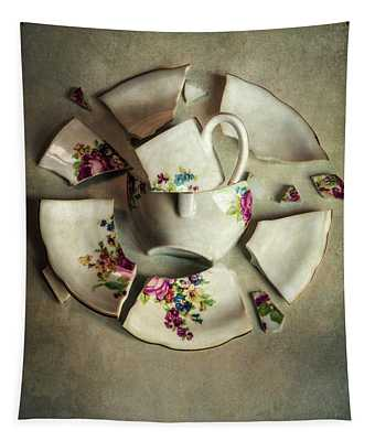 Tapestry featuring the photograph Still Life With Broken Teaset by Jaroslaw Blaminsky