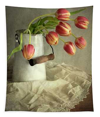 Tapestry featuring the photograph Red And Yellow Tulips by Jaroslaw Blaminsky