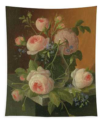 Still Life With Roses, Circa 1860 Tapestry