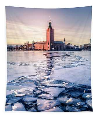 Stockholm City Hall In Winter Tapestry