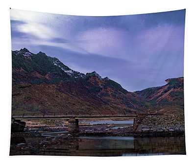 Stone Bridge On Lofoten Islands  Tapestry