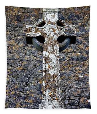 Stone Irish Cross Tapestry