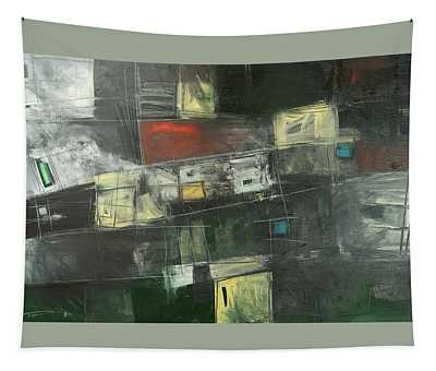Storage Sheds Abstract Tapestry