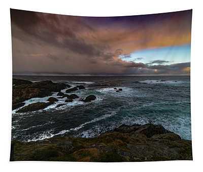 Storm Coastline Tapestry