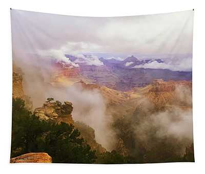 Storm In The Canyon Tapestry