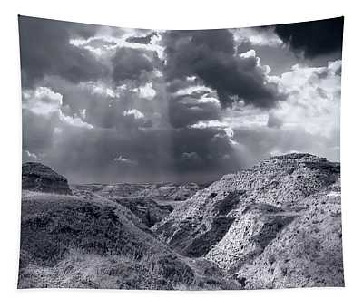Storm Over The Badlands Tapestry