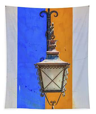 Street Lamp Of Obidos Tapestry