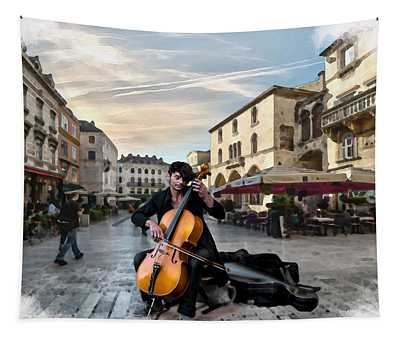 Street Music. Cello. Tapestry