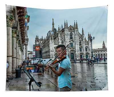 Street Music. Violin. Tapestry