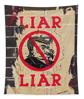 Street Poster - Liar Liar Tapestry