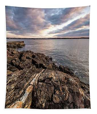 Striations. Leading Lines In The Rocks Tapestry
