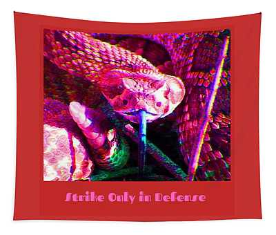 Tapestry featuring the photograph Strike Only In Defense by Judy Kennedy