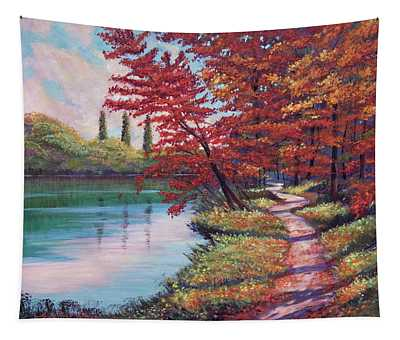Stroll Along The Lakeshore Tapestry