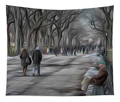 Stroll Through Central Park Tapestry