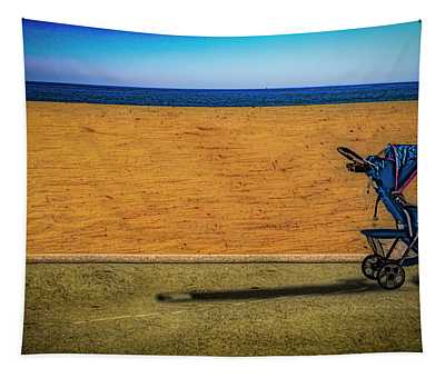 Stroller At The Beach Tapestry