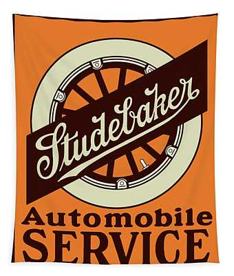 Studebaker Auto Sign Tapestry