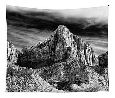 Stunning Bw Zion National Park Utah  Tapestry