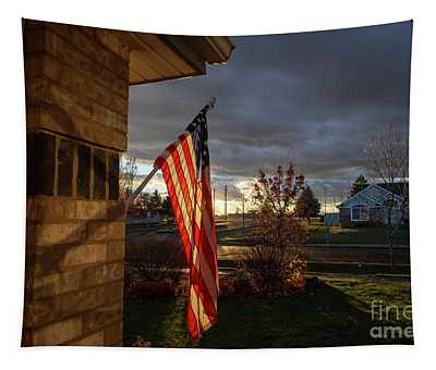 Tapestry featuring the photograph Suburban Sunset by Matthew Nelson