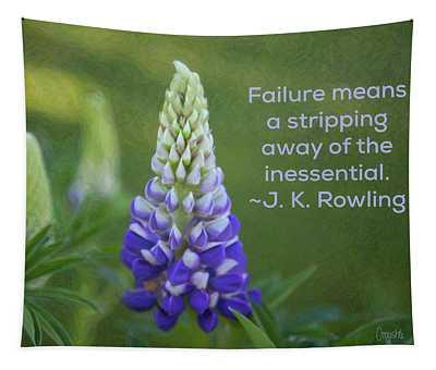 Success Via Failure - Motivational Flower Art By Omaste Witkowski Tapestry