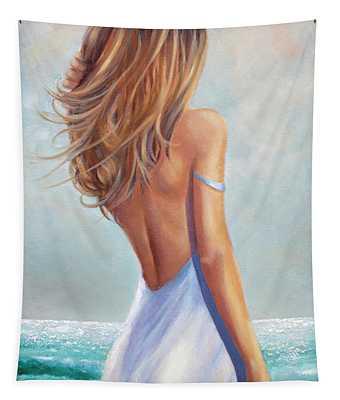 Summer Beach Tapestry