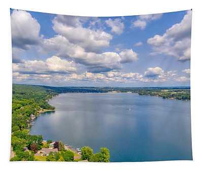 Summer Clouds On Keuka Lake Tapestry